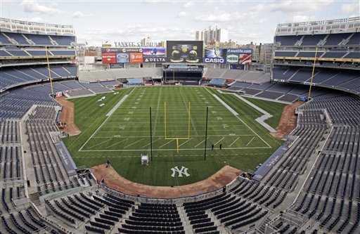 Fotboll på Yankee Stadium